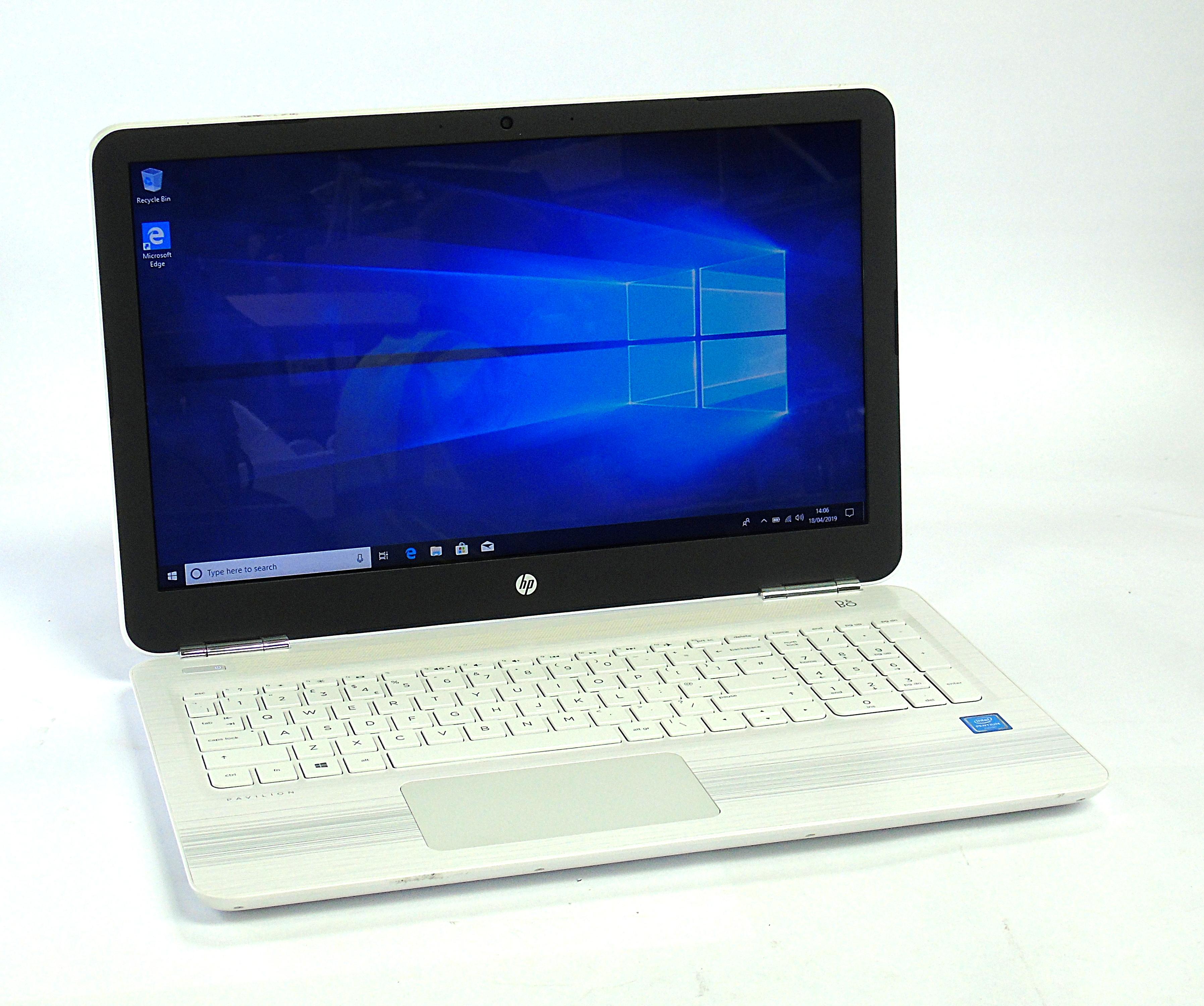 "HP Pavilion 15-AU076SA Laptop Pentium 4405U 4GB RAM 1TB HDD 15.6"" Windows 10"