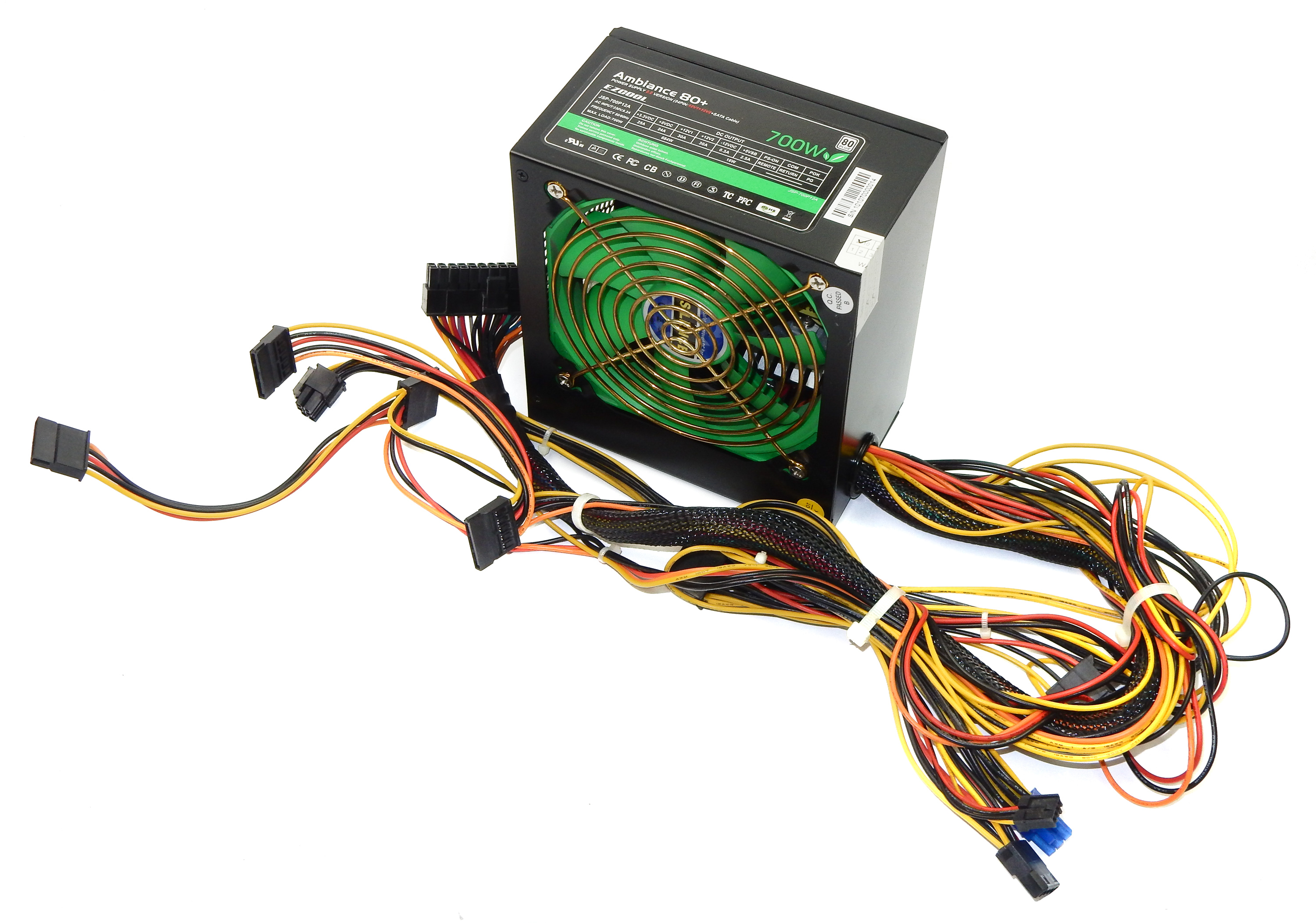 EZCOOL JSP-700P12A 20/24-Pin 700W Power Supply Unit