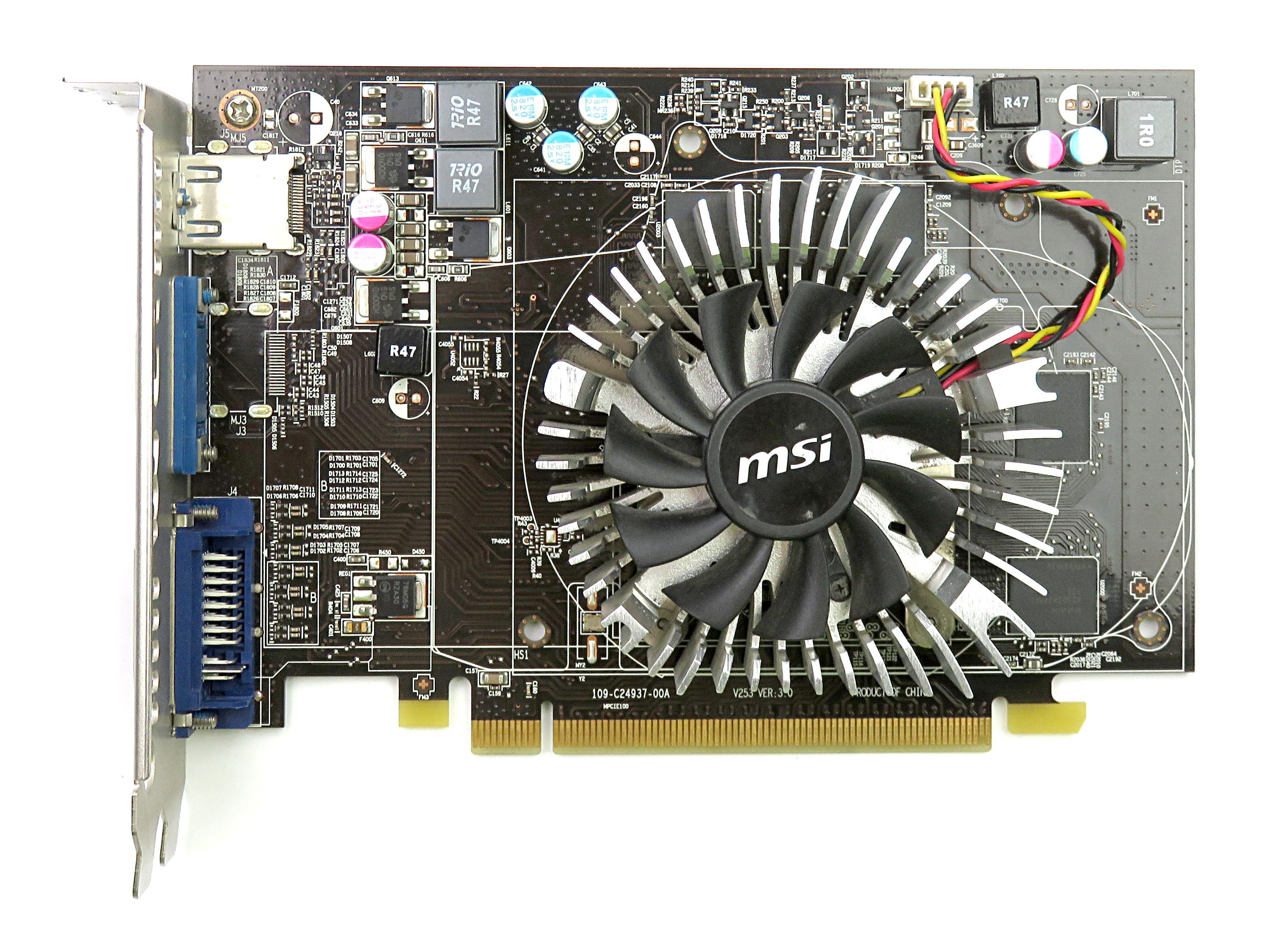 MSI AMD Radeon HD 6670 1GB GDDR5 PCIe Graphics Card R6670-MD1GD5 HDMI/DVI-I/VGA
