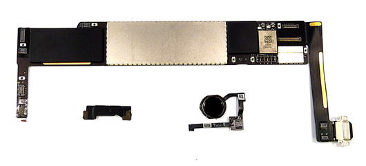 Apple iPad Mini 4 128GB Wifi Logic board 820-00180-B & Touch ID Home Button-Grey