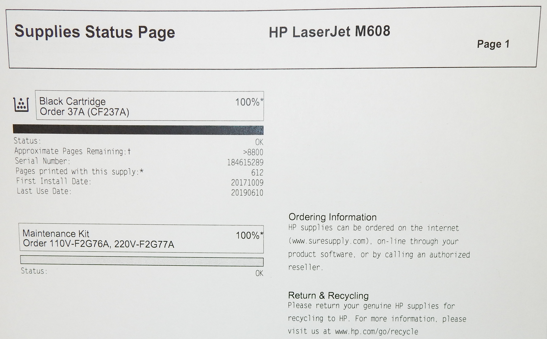 HP K0Q19A Laserjet Enterprise M608 Mono Laser Printer