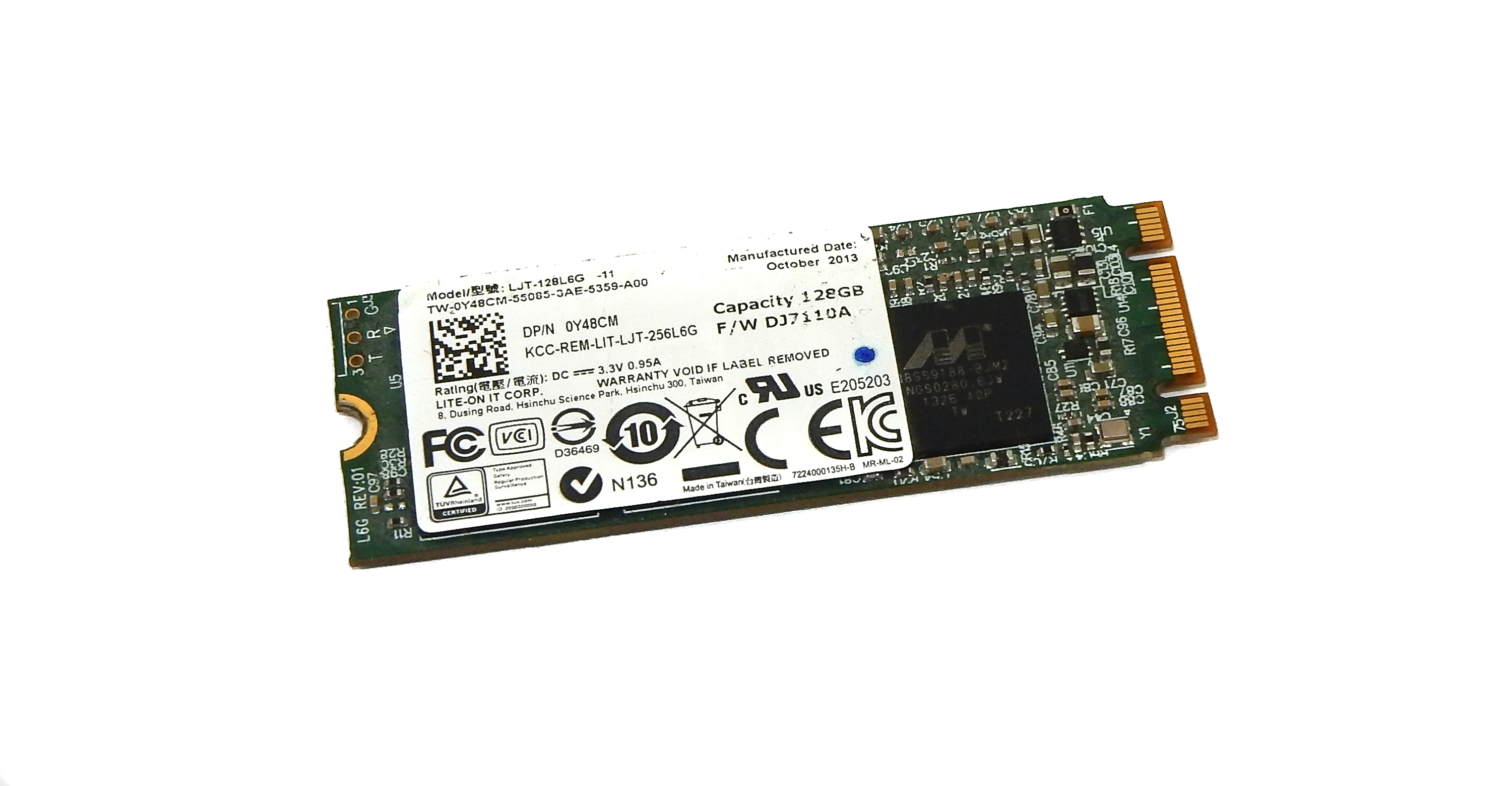 Dell Y48CM Lite-On LJT-128L6G 128GB M.2 2260 Solid State Drive SSD