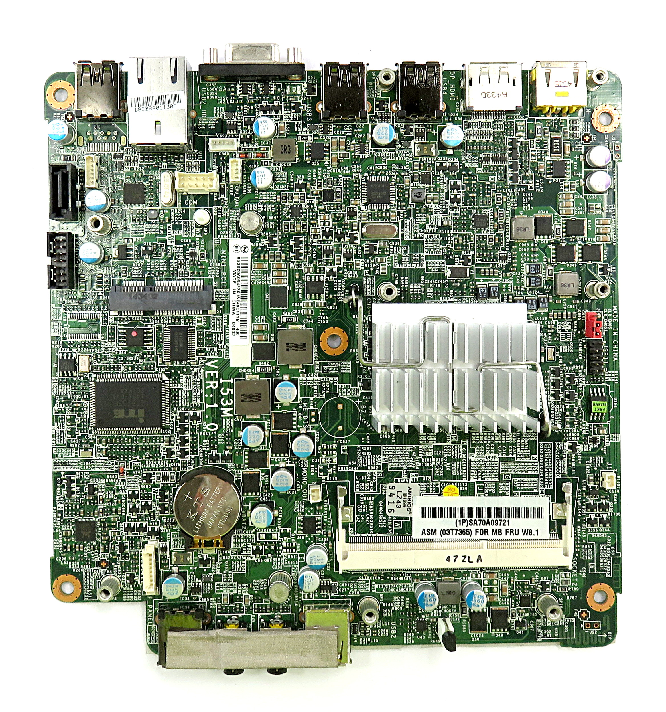 Lenovo 03T7365 I53M VER:1.0 Motherboard f/ ThinkCentre M53 USFF w/ J2900 CPU