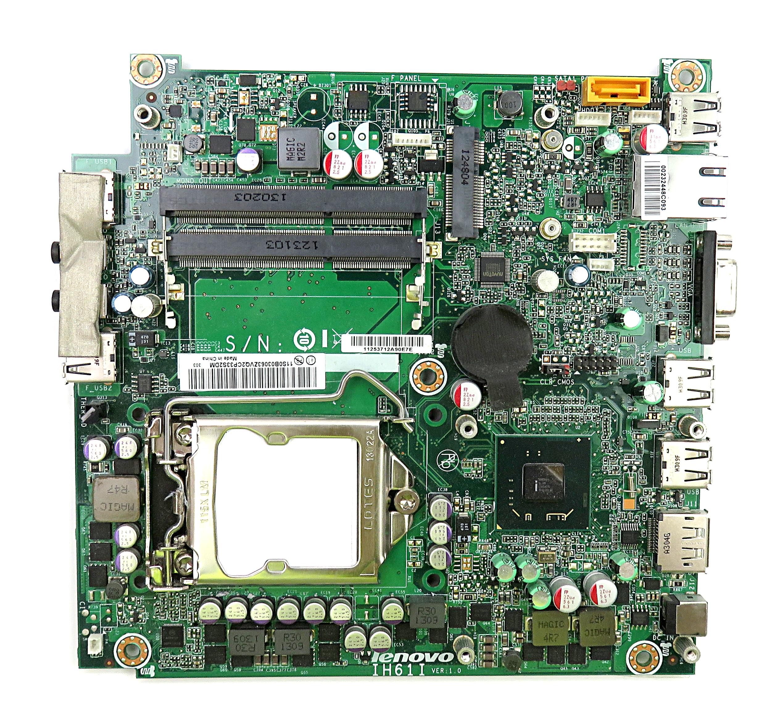 Lenovo IH61I VER:1.0 Intel Socket 1155 Motherboard f/ ThinkCentre M72e Micro PC