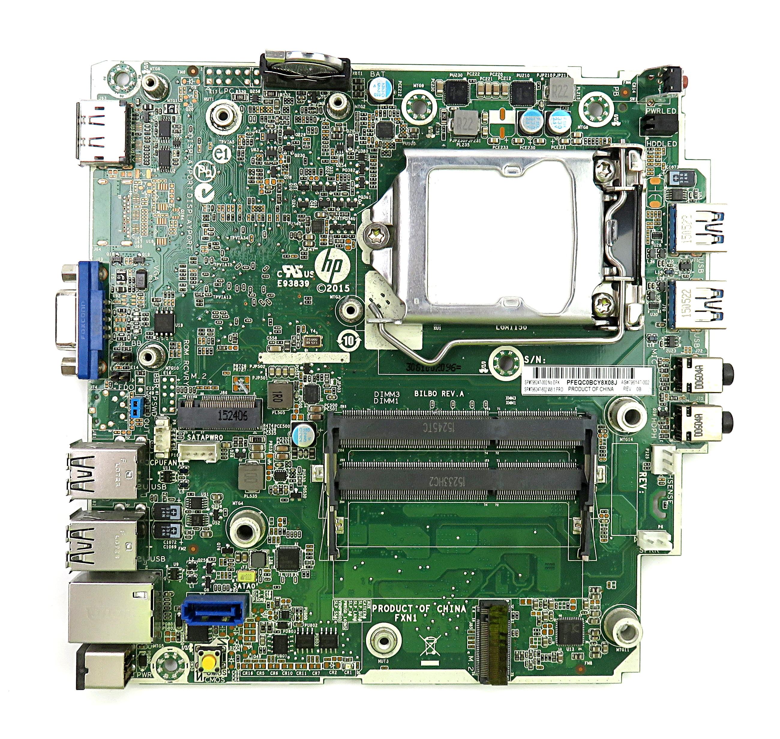 HP 796147-002 Intel Socket 1150 Motherboard 796247-002 f/ ProDesk 400 G1 USFF PC