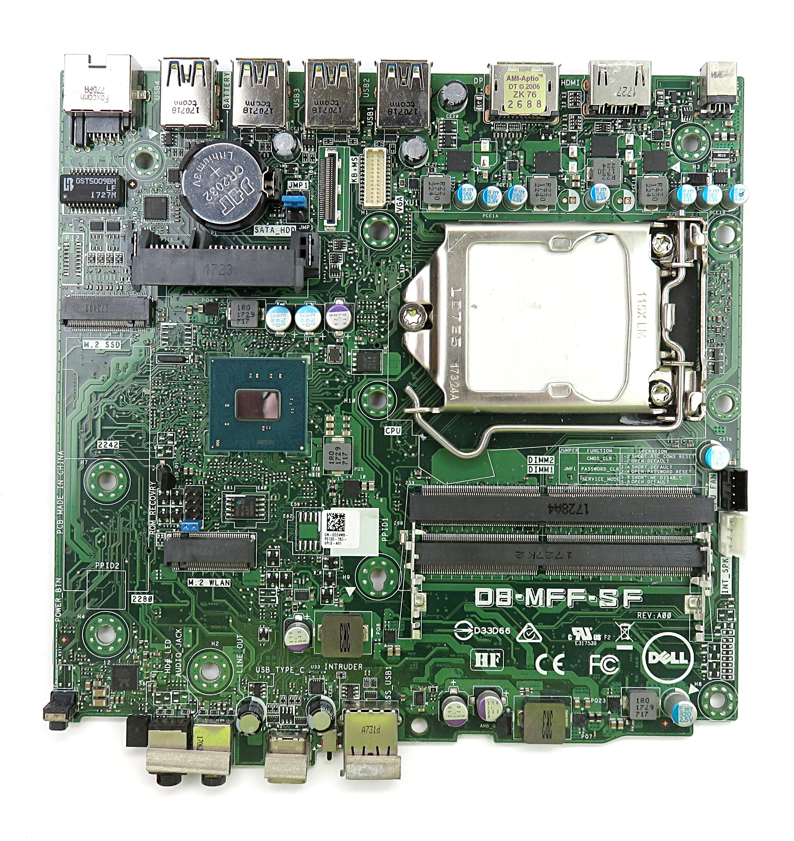 Dell D24M8 Intel Socket 1151 Motherboard DB-MFF-SF f/ OptiPlex 7050 Micro PC