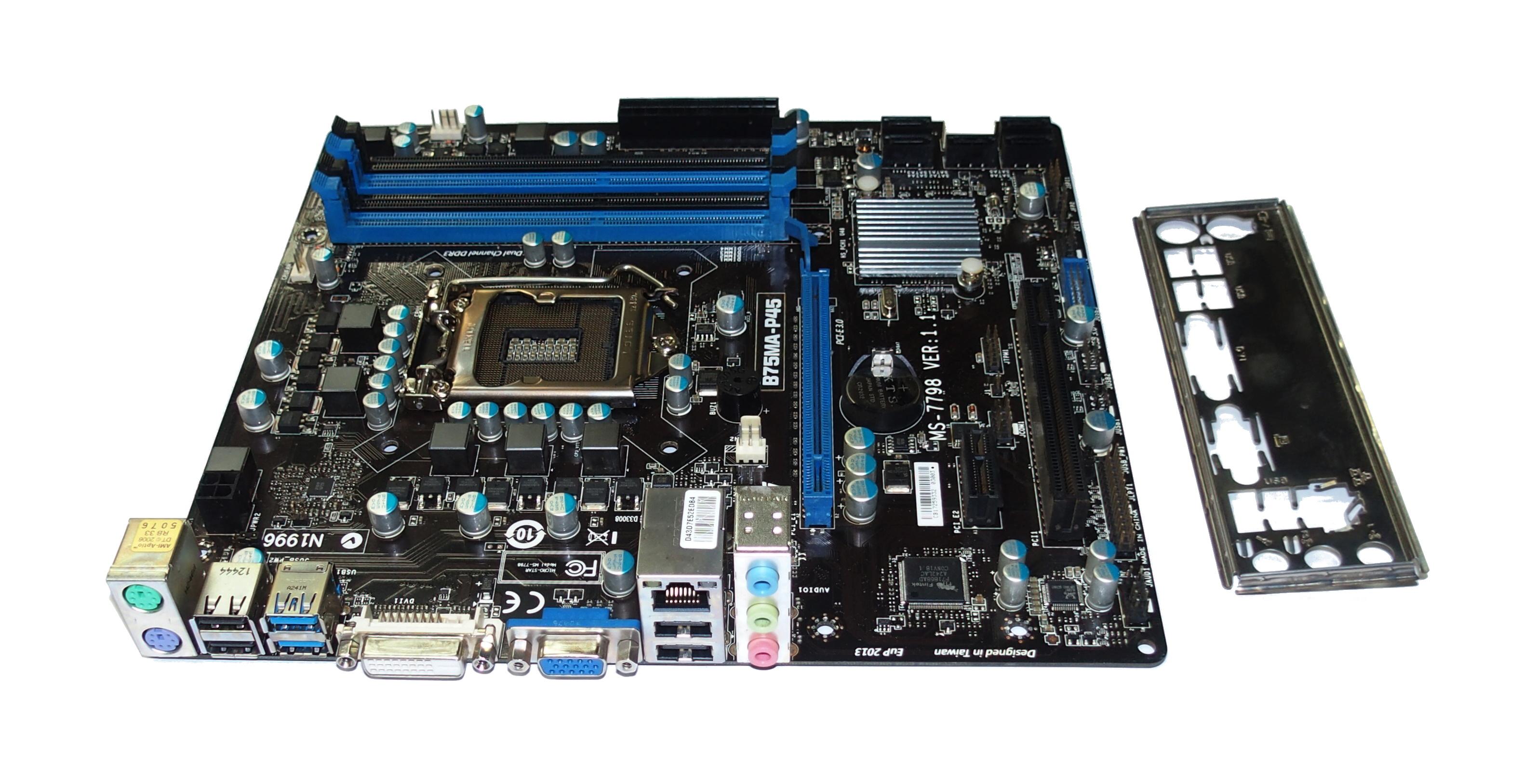 MSI B75MA-P45 MS-7798 Ver 1.1 USB 3.0 Socket 1155 M-ATX MB Motherboard