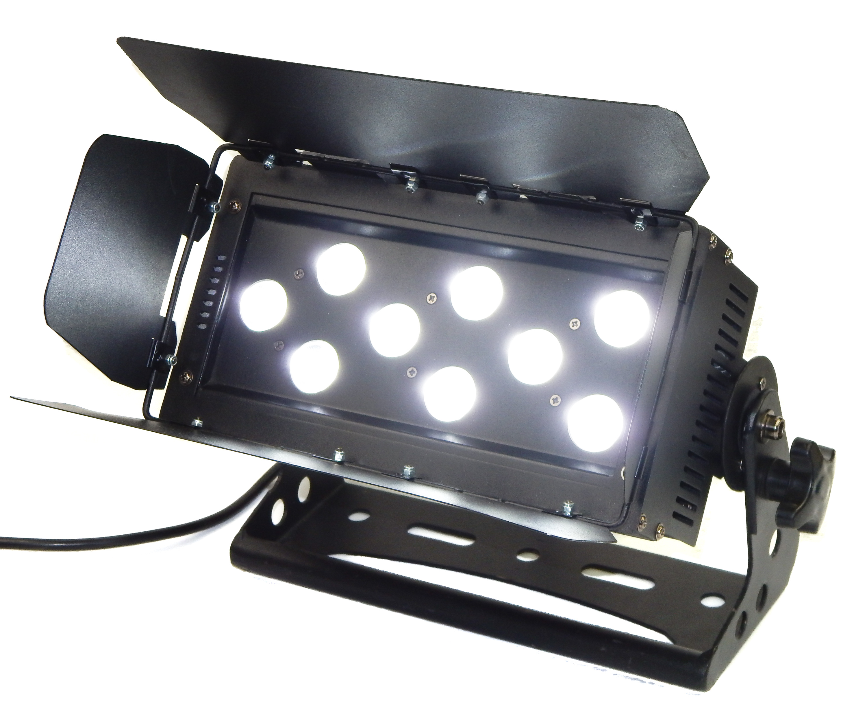 LEDJ Stage Colour Quad RGBW 9 LED Disco Party Bar Lighting Effect Light