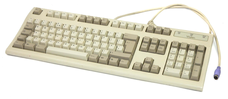 Viglen 6312-TW Vintage Clicky PS2 Mechanical UK Keyboard