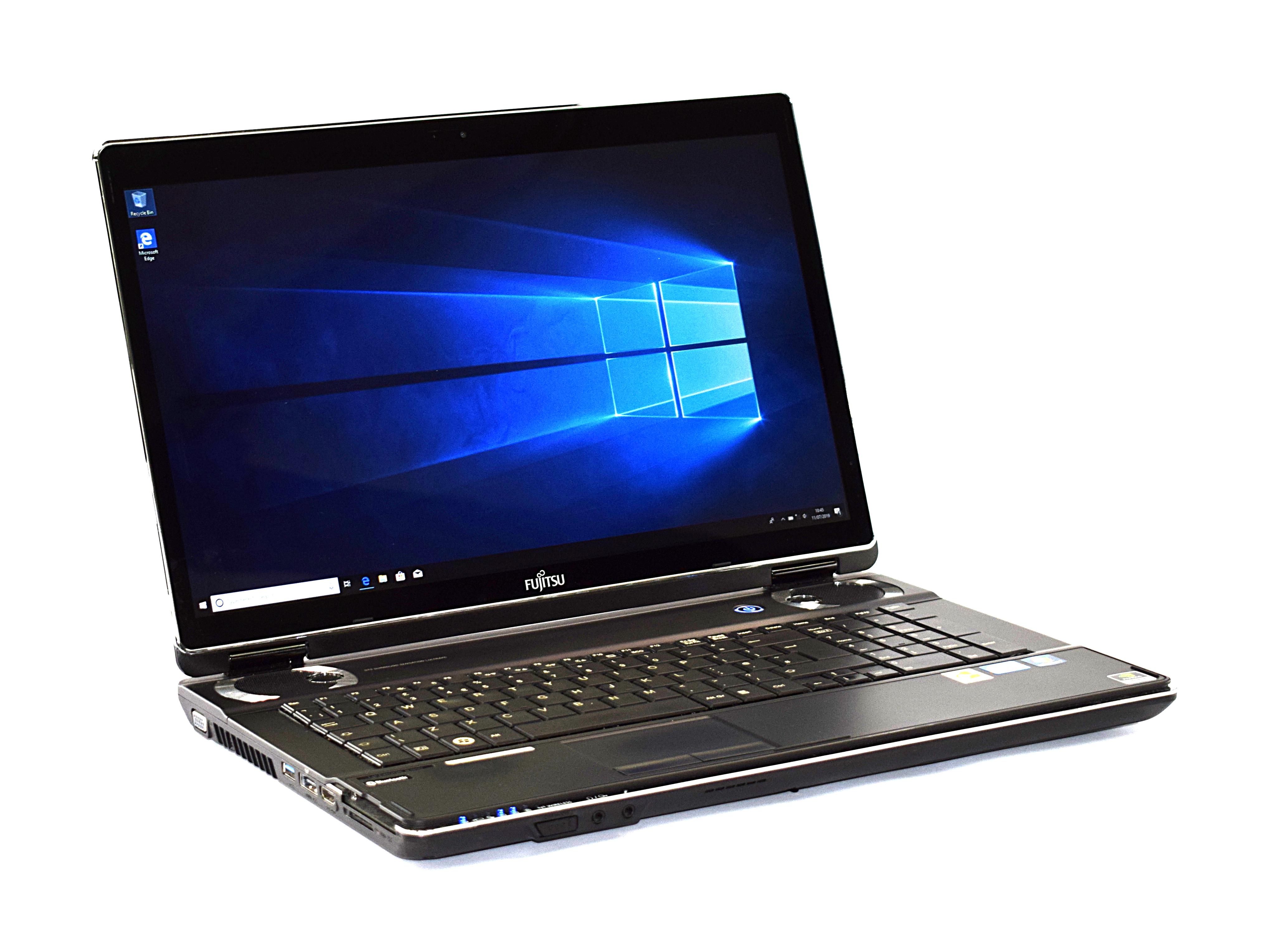 "Fujitsu Lifebook NH751 17.3"" Laptop Core i7-2670QM 8GB RAM 500GB HDD Windows 10"