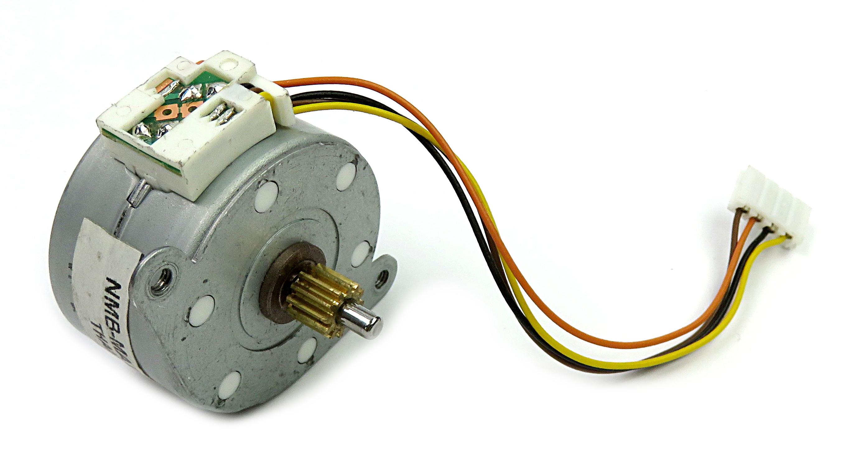 Minebea PM35L-048-ZFV9 48-Step/Rotation (7.5°/step) 24V Stepper Motor w/7mm gear