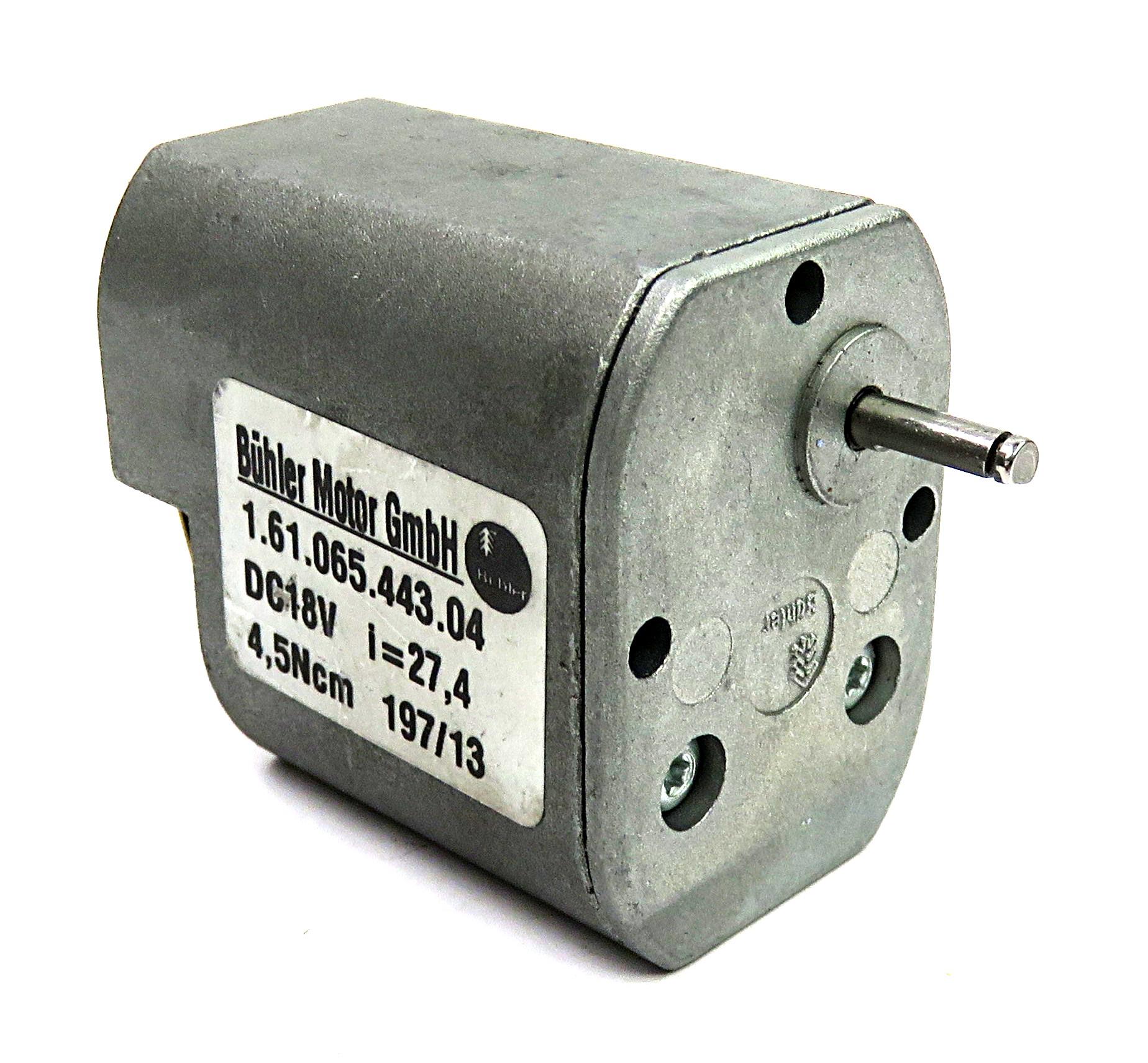 1Nm 31mmx106mm Buhler Motor 39.7:1 24v 75RPM Gearmotor