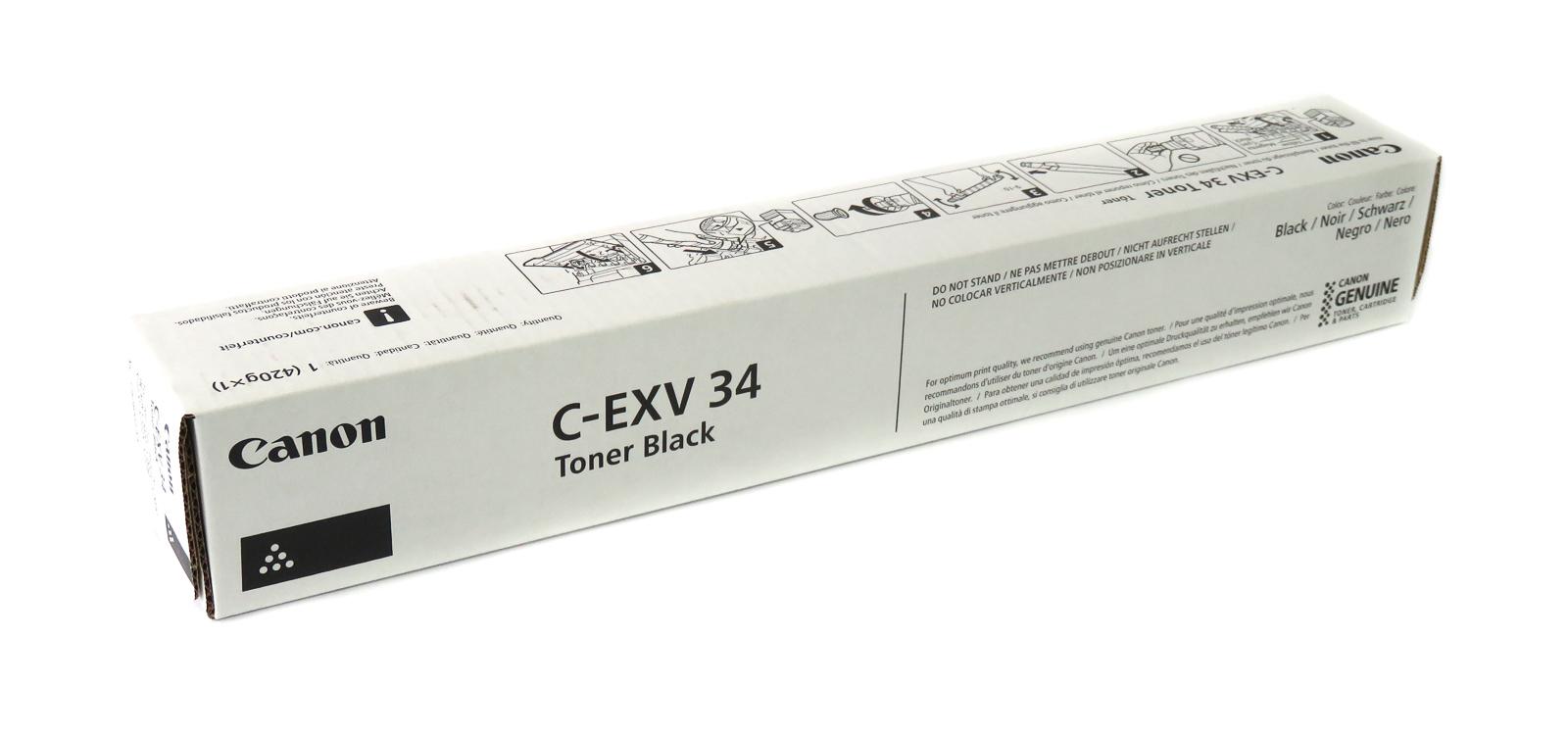 New Canon C-EXV 34 Black Toner Cartridge f/ C2020(5) / C2030 / C2220(5) / C2230