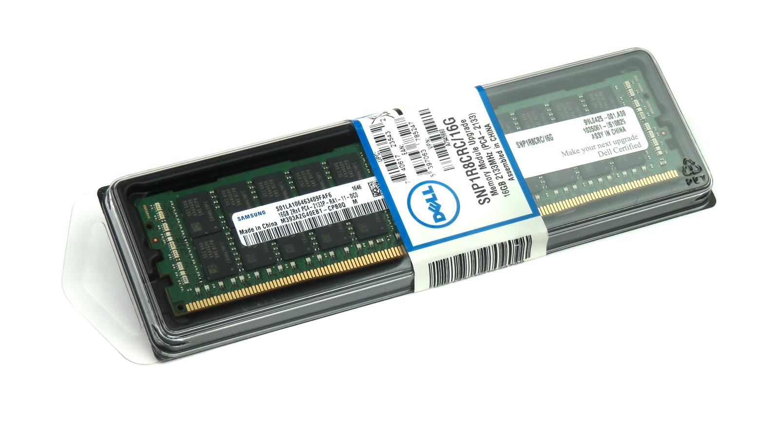 Dell 16GB 2RX4 DDR4 ECC 2133MHz Server Memory Module SNP1R8CRC/16G PowerEdge