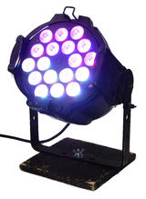 x4 LEDJ Alu Tri Par 64 Black RGBW 18 LED Disco Party Effect Light w/ Case