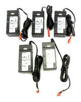 Set of 5 Extron 28-071-57LF 12VDC 1.0A 2-pin Power Supplies w/ Long Cable