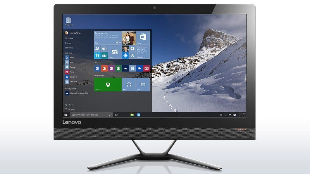 "Lenovo 300-23ISU 23"" Non-Touch All in One PC Core i5-6200U/2TB HDD/8GB RAM Black"