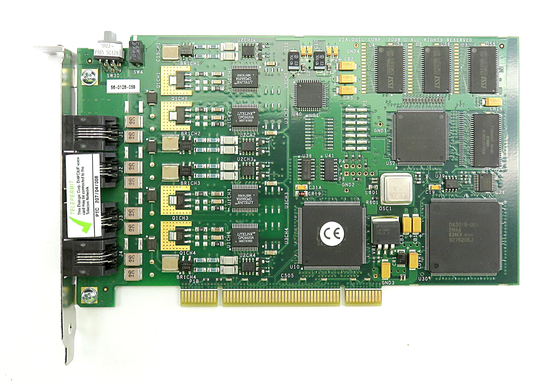Dialogic D4PCIUFWEU Voice/Fax Media Board (4-port Analog, Loop-Start, PCI, EU)
