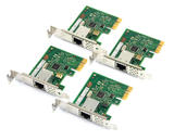 4x HP 728562-001 Intel Single-Port PCI-e 10/100/1000 Ethernet Adapter