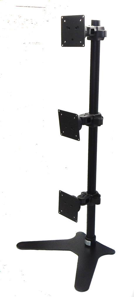 ErgoMounts VisionPro 300 EMVP333 Triple Monitor Vertical Desk Mount