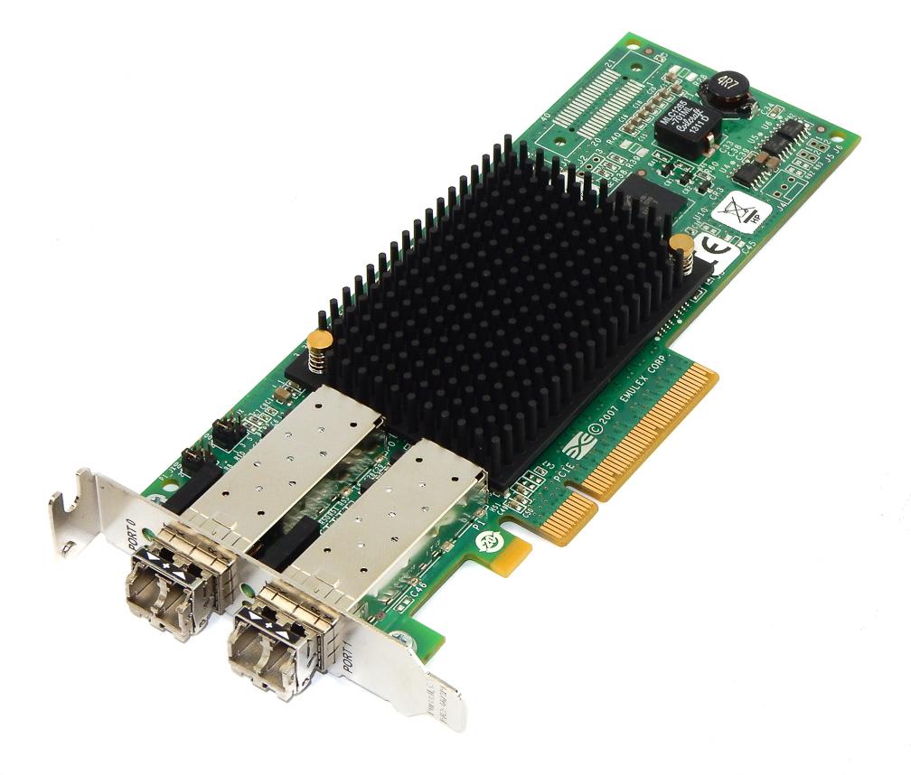 HP 697890-001 PCI-E Dual Port 8GB HBA Adapter AJ763-63003