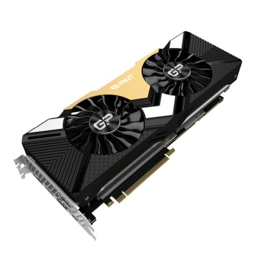 Palit RTX2080 Ti GamingPro OC, 11GB DDR6, HDMI, 3 DP, USB-C, 1650MHz Clock, NVlink, RGB Lighting, Overclocked