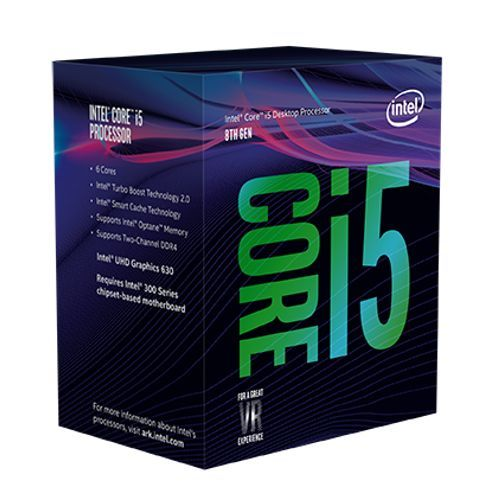Intel Core i5-9400 CPU, 1151, 2.9 GHz (4.1 Turbo), 6-Core, 65W, 14nm, 9MB Cache, UHD GFX, Coffee Lake
