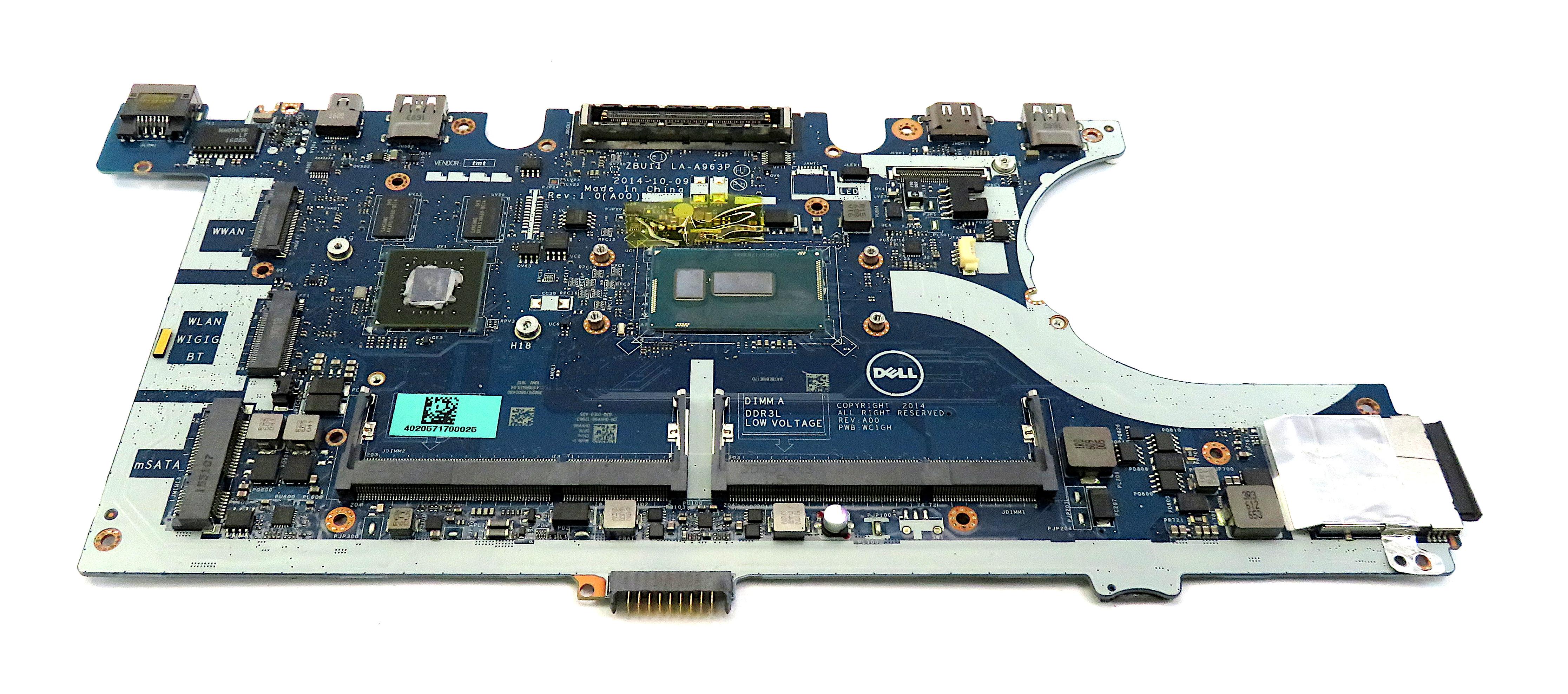 Dell HVV96 Latitude E7450 with Intel Core i5-5300U Laptop Motherboard