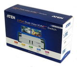 Aten CS1742 2-Port Dual-View KVMP Switch & USB Hub CS1742C-B