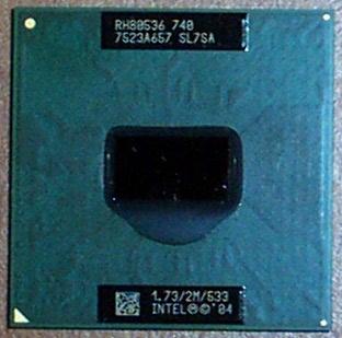 Intel SL7SA Pentium M 740 1.73GHz 2MB 533MHz Dothan Processor