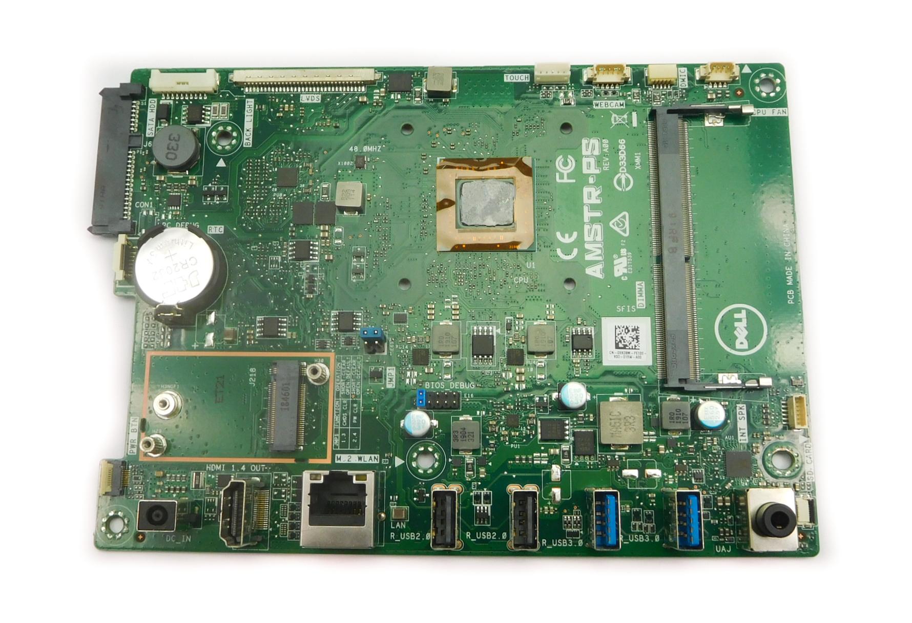 Dell XKD8M Inspiron 22-3275 AiO PC Motherboard AMSTR-PS / BGA AMD A9-9425 CPU