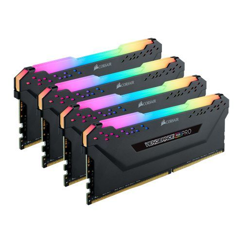 Corsair Vengeance RGB Pro 32GB Memory Kit (4 x 8GB), DDR4, 3600MHz (PC4-28800),