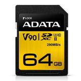 ADATA Premier ONE 64GB SDXC Card, UHS-II Class 10 (U3), V90 Video Speed (8K), R/