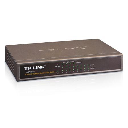 TP-LINK (TL-SF1008P) 8-Port 10/100Mbps Unmanaged Desktop Switch, 4-Port PoE, Ste