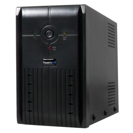 Powercool 1000VA Smart UPS, 600W, LED Display, 3 x UK Plug, 2 x RJ45, 3 x IEC, U
