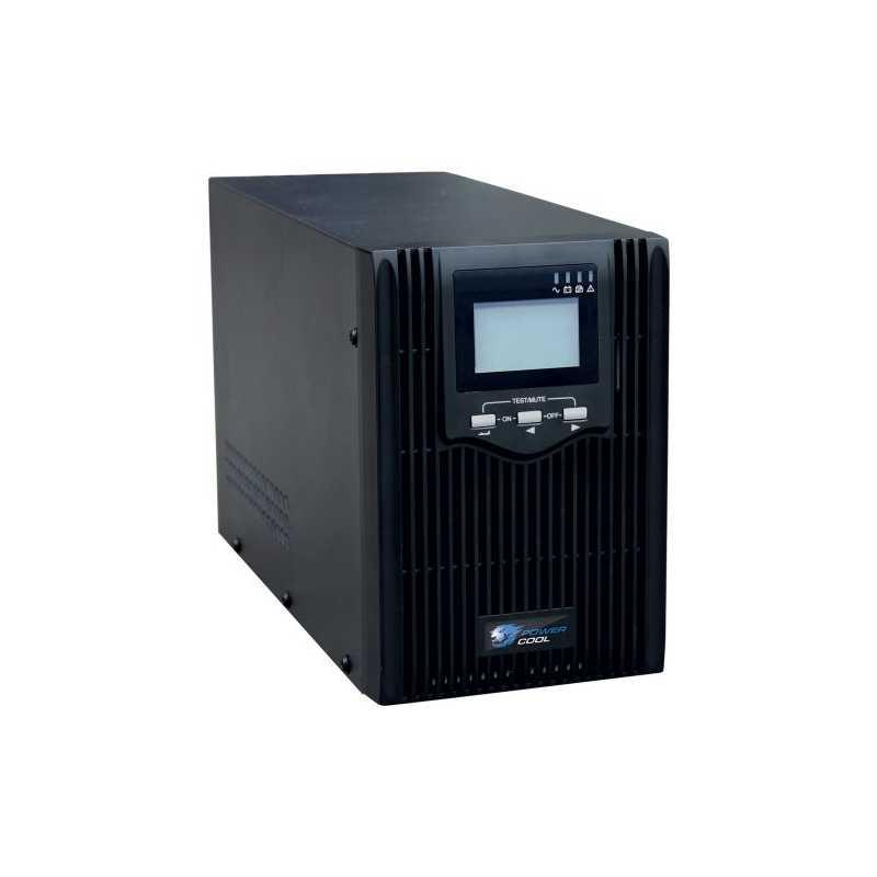 Powercool 2000VA Smart UPS, 1200W, LCD Display, 2 x UK Plug, 2 x RJ45, 4 x IEC,