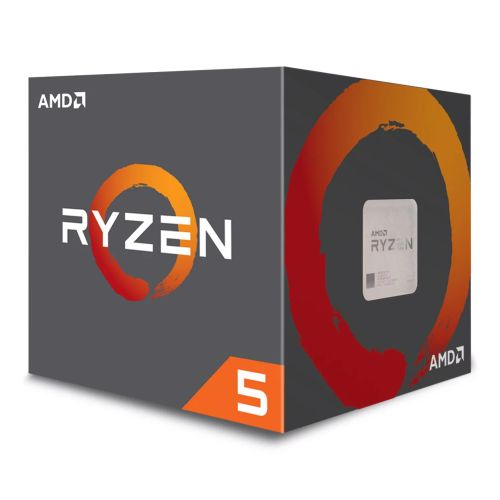 AMD Ryzen 5 1400 CPU with Wraith Cooler, AM4, 3.2GHz (3.4 Turbo), Quad Core, 65W