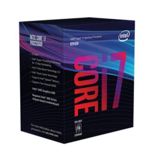 Intel Core I7-8700K CPU, 1151, 3.7 GHz (4.7 Turbo), 6-Core, 95W, 14nm, 12MB, Ove