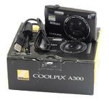Used Nikon Coolpix A300 Compact Digital Camera - Black