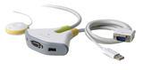 BELKIN KVM SWITCH FLIP 2-PORT 2 PC 1 VGA MONITOR USB REMOTE  F1DF102U