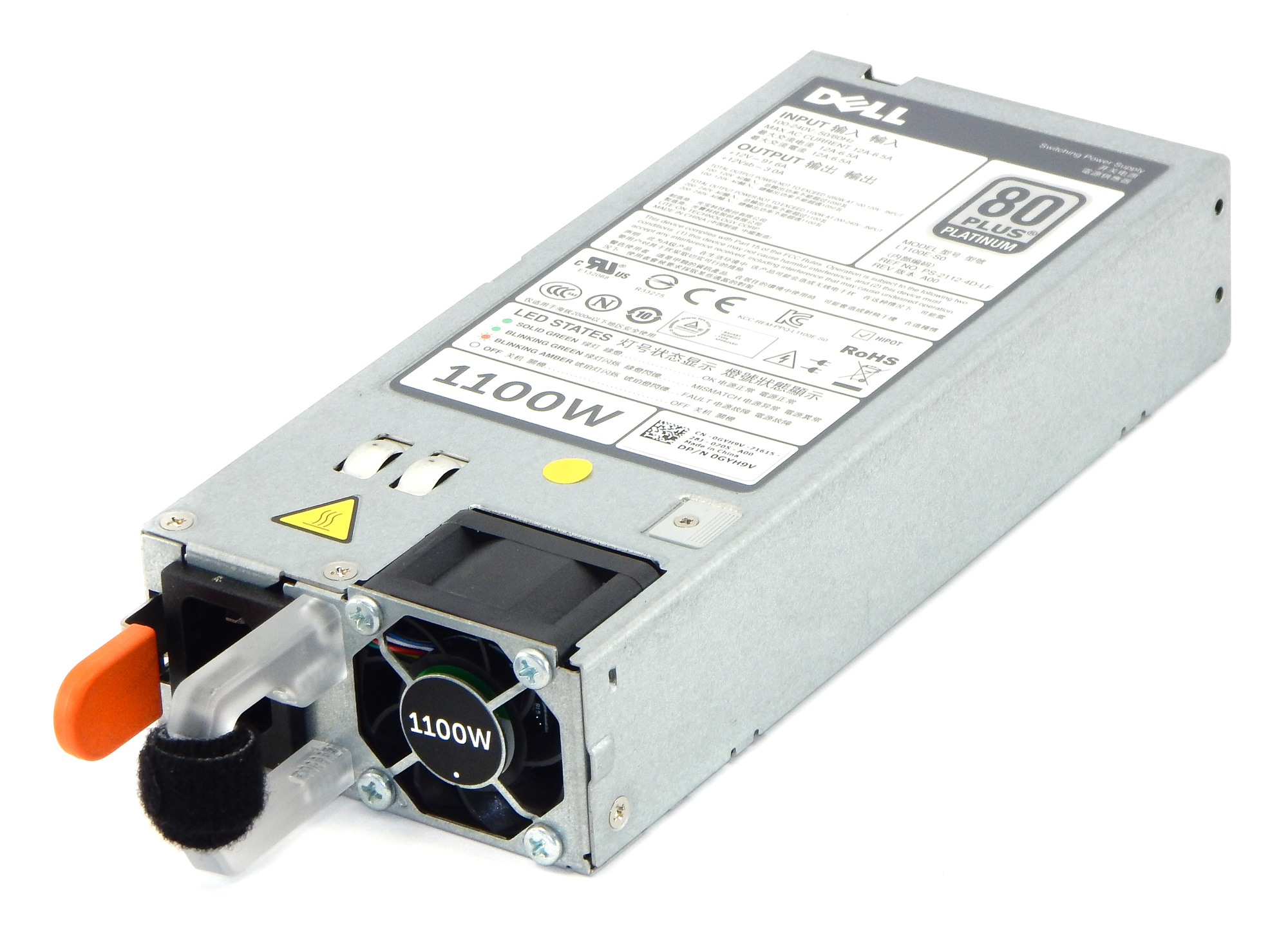 Dell GYH9V PowerEdge R720 R820 Switching Power Suplly 1100W PSU