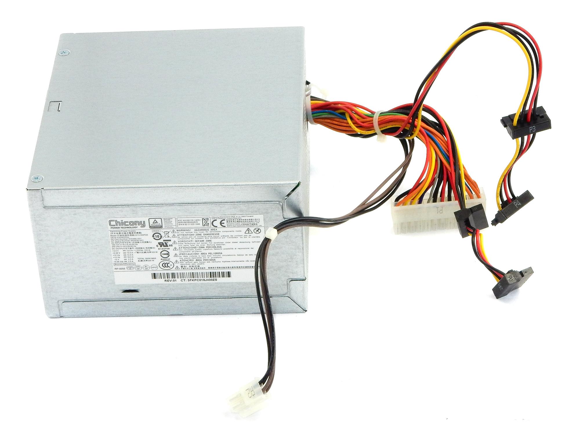 HP 842936-001 Chicony D13-300P2A 300W Server Power Supply f/ ML10 Gen9