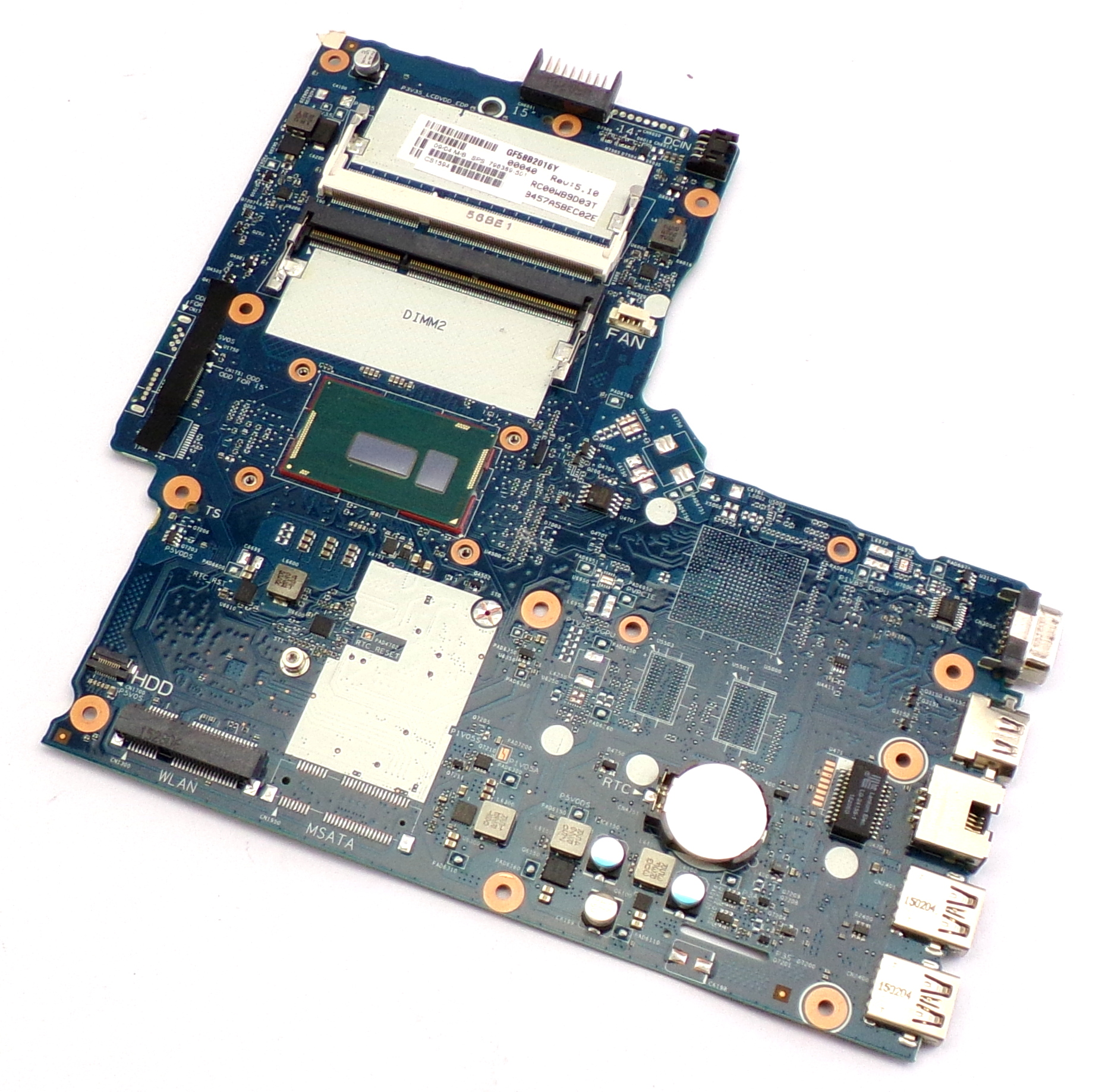 HP 796389-501 350 G2 with Intel Core i3-5010U Laptop Motherboard