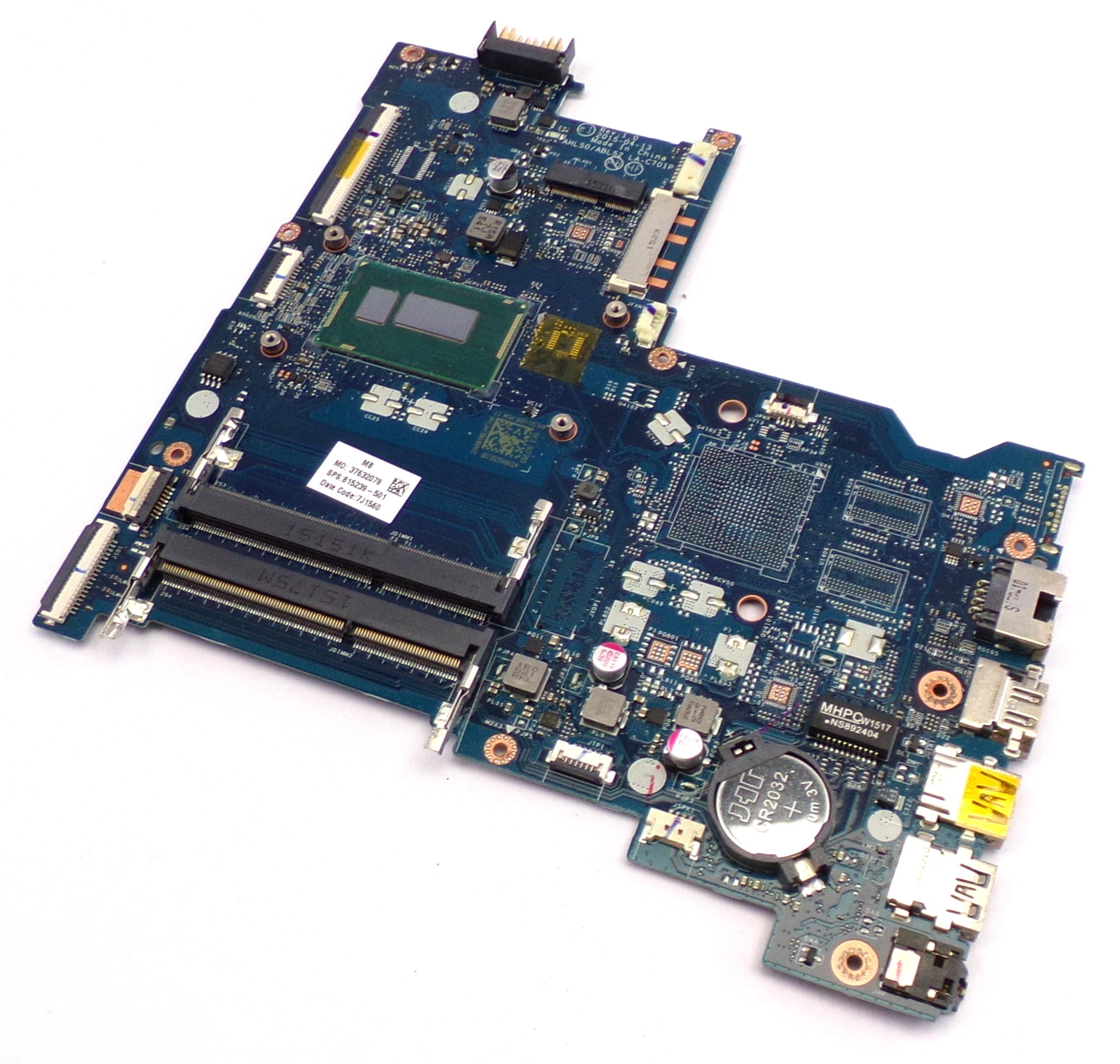 HP 815239-501 15-AC Series with Intel Corei3-4005U Motherboard
