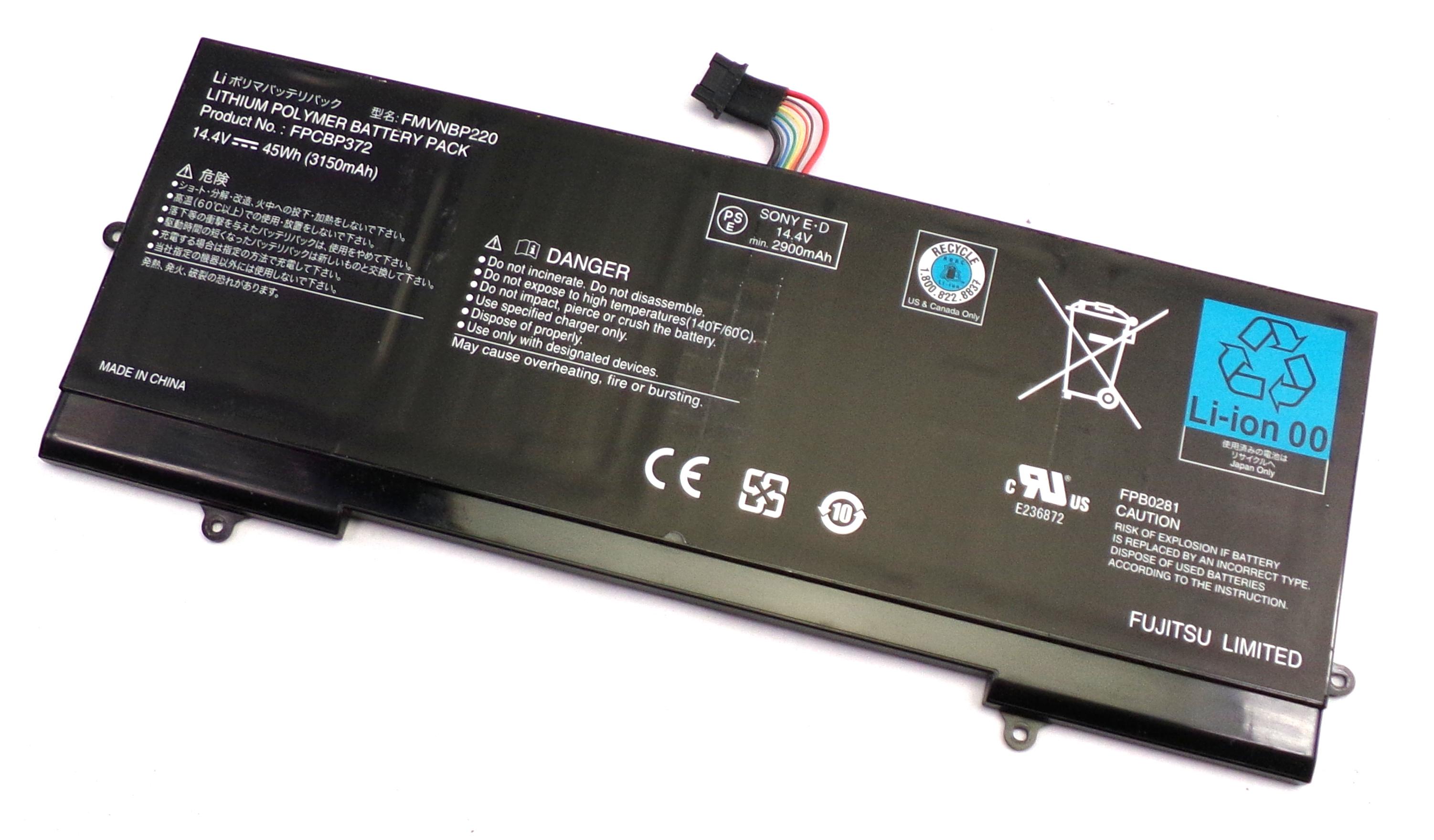 Fujitsu CP579040-01 LifeBook U772 14.4V 45Wh 3150mAh Battery