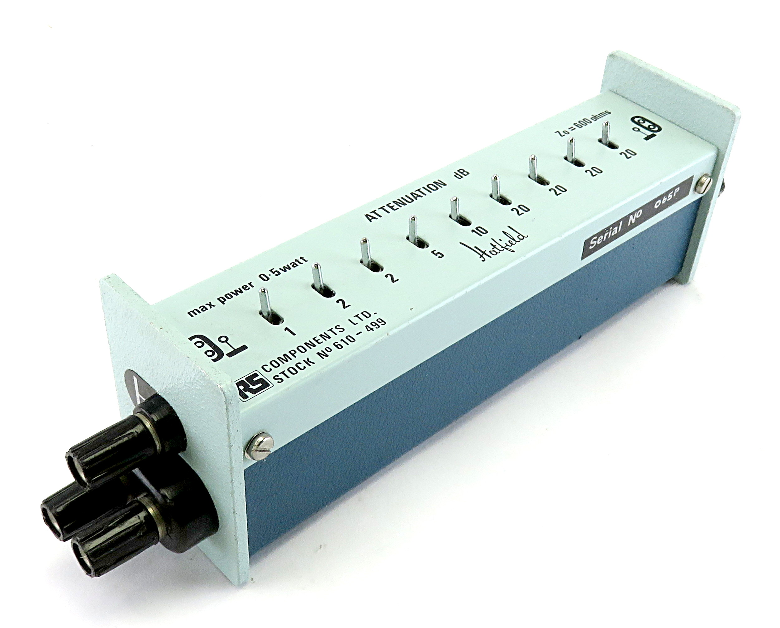 Hatfield Instruments Attenuator Type 2135 600 Ohm Variable Attenuator