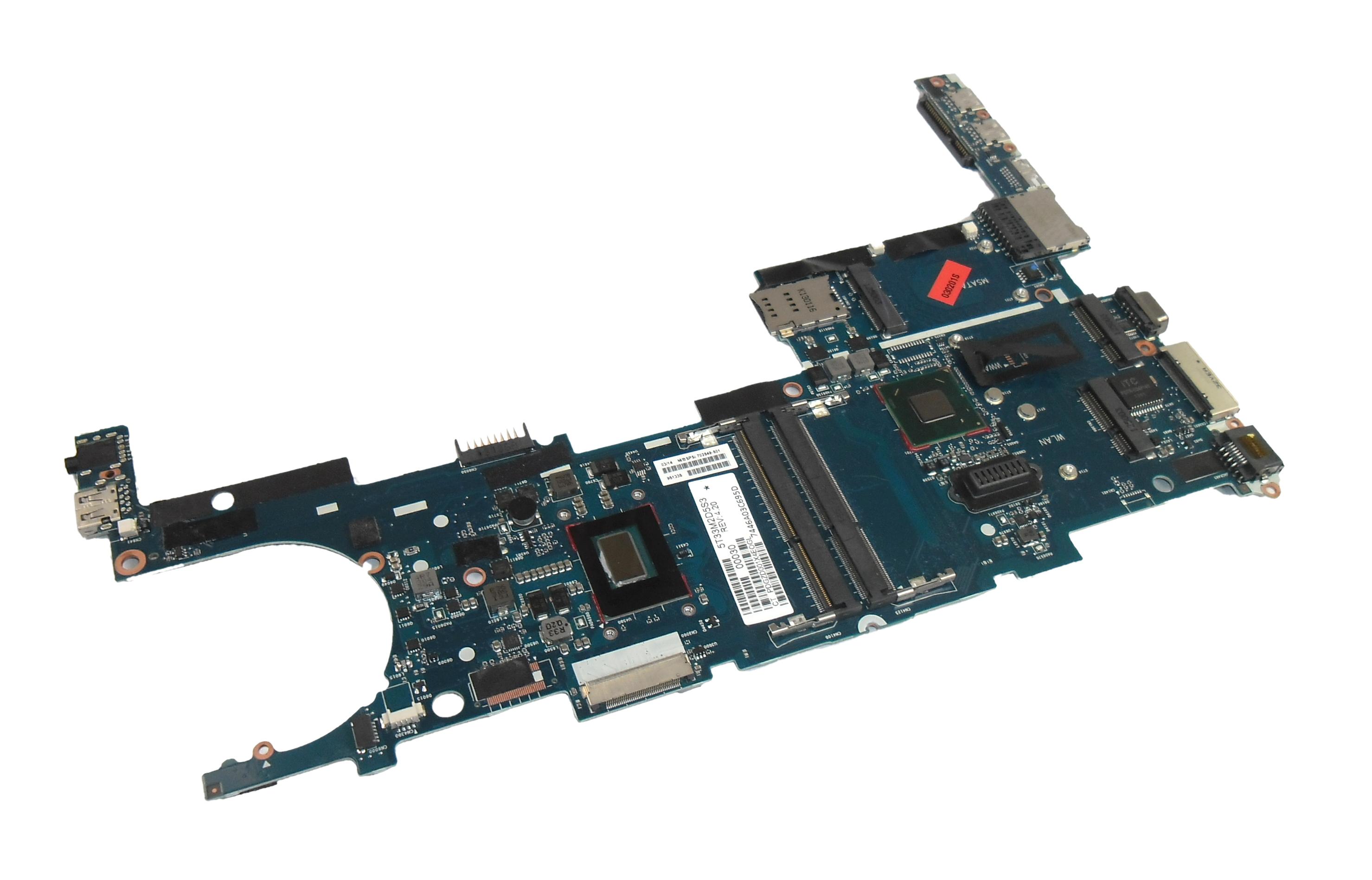 HP 702849-001 EliteBook Folio 9470m Motherboard with i5-3427U (SR0N7) Processor