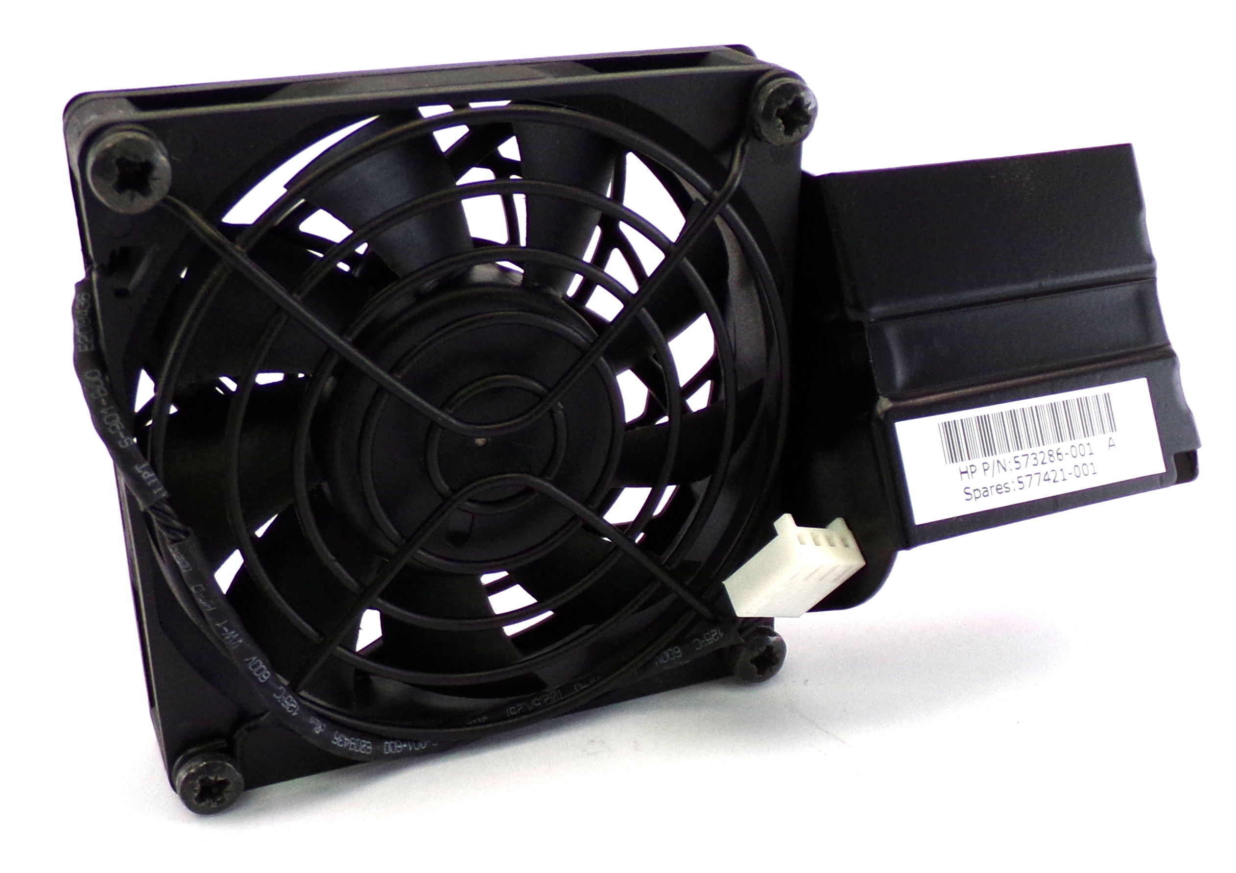 HP 577421-001 Workstation Z400 liquid cooling module fan with support bracket