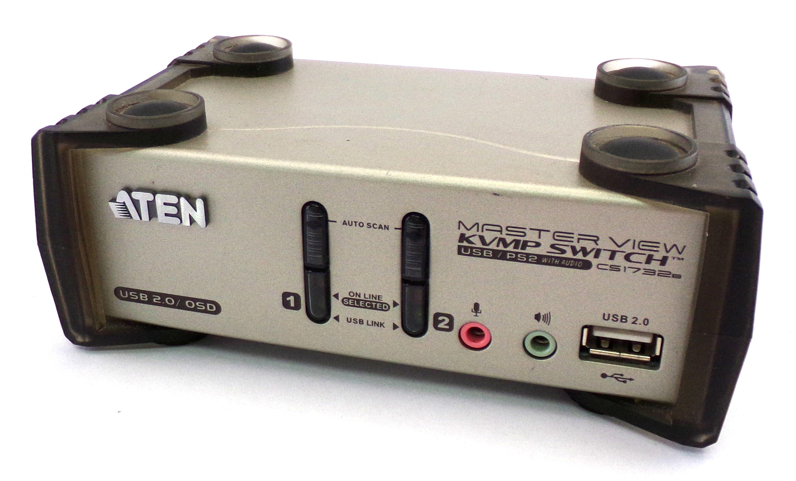 Aten CS1732B 2-Port USB 2.0 KVMP Switch with OSD