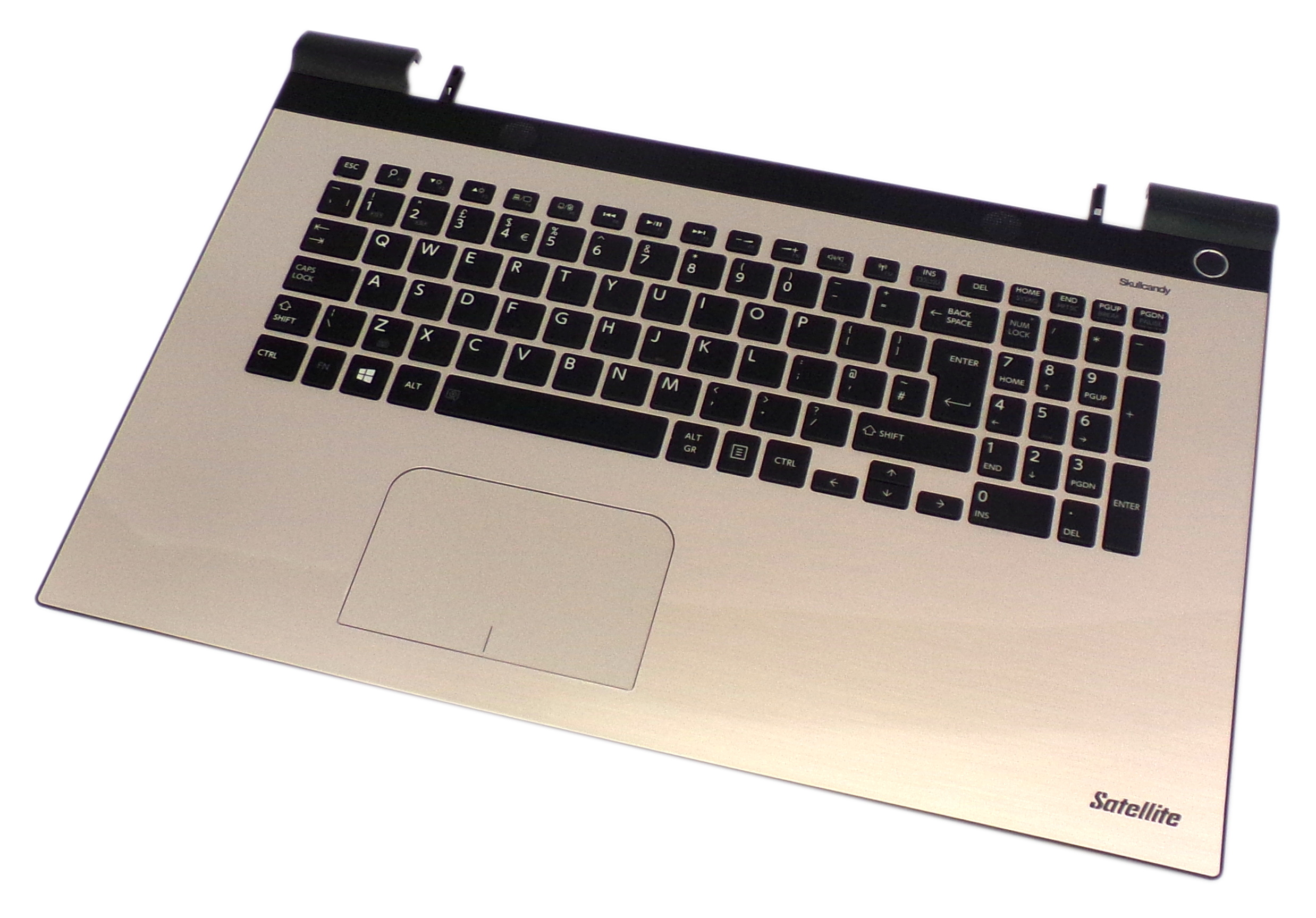 H000081870 Toshiba Satellite L75-C7250 Keyboard Touchpad Palmrest Gold Assembly